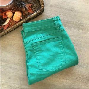 PrAna green skinny pants